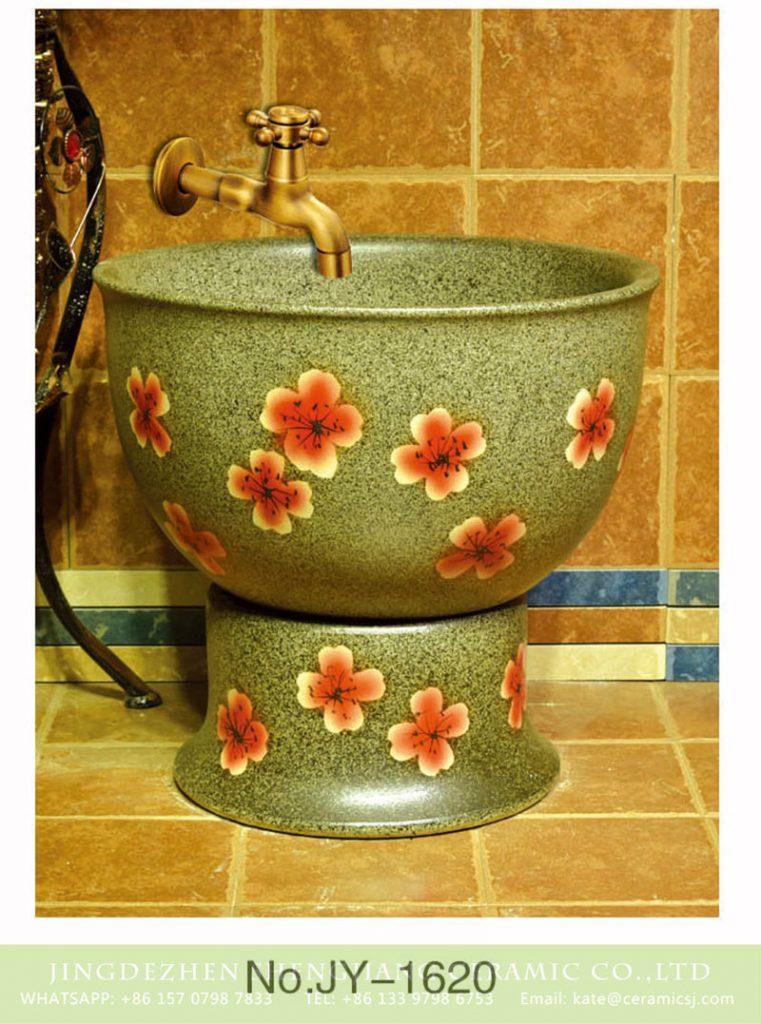 SJJY-1620-78拖把池_07-761x1024 SJJY-1620-78   Shengjiang factory wholesale imitating marble porcelain with red color flowers mop sink - shengjiang  ceramic  factory   porcelain art hand basin wash sink