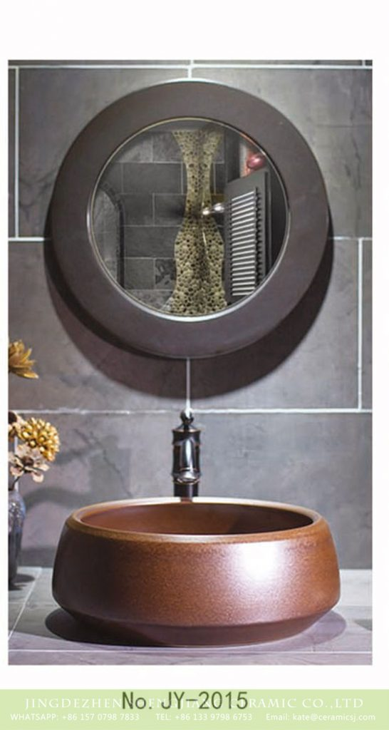 SJJY-2015-4金属釉台上盆_06-546x1024 SJJY-2015-4   Factory wholesale brown color metal glazed wash basin - shengjiang  ceramic  factory   porcelain art hand basin wash sink