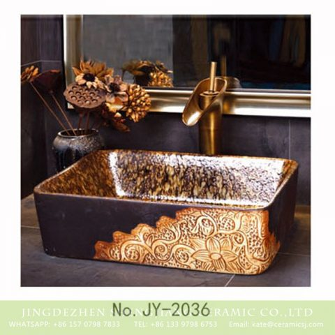 SJJY-2036-6   China exporter best choice hand carved art durable sanitary ware