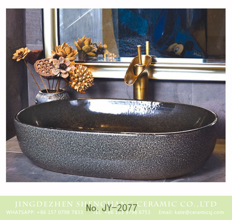 SJJY-2077-11大冬瓜盆_03 SJJY-2077-11   Modern design solid color household toilet basin - shengjiang  ceramic  factory   porcelain art hand basin wash sink