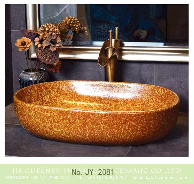 SJJY-2081-11大冬瓜盆_08 SJJY-2081-11   Easy cleaning high quality oval vanity basin - shengjiang  ceramic  factory   porcelain art hand basin wash sink