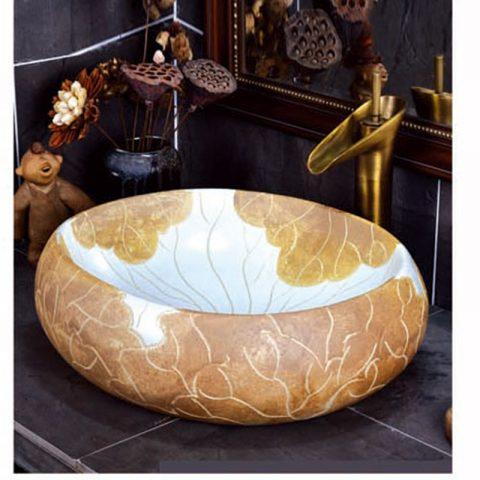 SJJY-2124-17   Popular sale home decor durable art wash basin