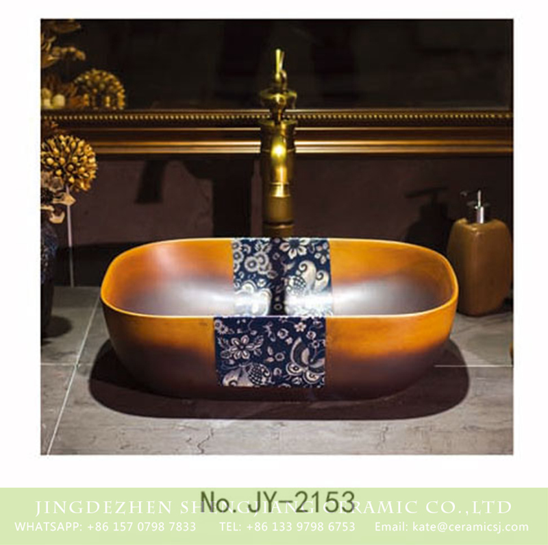 SJJY-2153-20薄口小椭圆盆_11 SJJY-2153-20  Jingdezhen factory direct retro porcelain with blue and white device wash sink  - shengjiang  ceramic  factory   porcelain art hand basin wash sink
