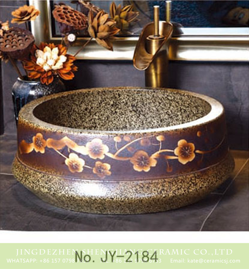 SJJY-2184-23聚宝盆_15 SJJY-2184-23   China traditional high quality marble ceramic wash basin - shengjiang  ceramic  factory   porcelain art hand basin wash sink