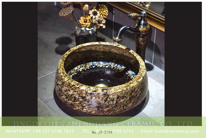 SJJY-2194-24聚宝盆_10 SJJY-2194-24   European luxury retro style round sanitary ware - shengjiang  ceramic  factory   porcelain art hand basin wash sink