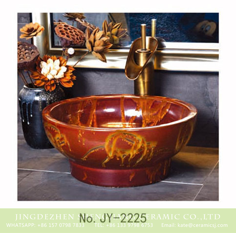 SJJY-2225-28小号盆_04 SJJY-2225-28   China ancient design easy cleaning wash basin - shengjiang  ceramic  factory   porcelain art hand basin wash sink