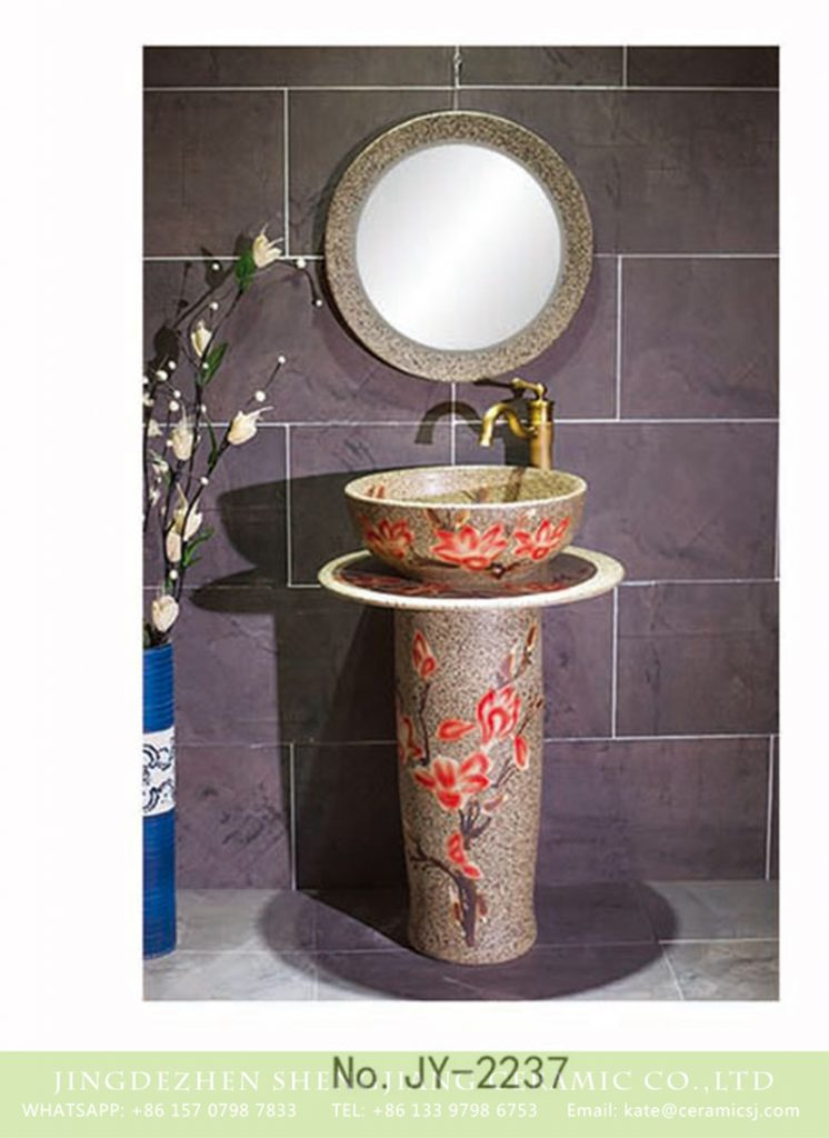 SJJY-2237-29柱盆_08-746x1024 SJJY-2237-29   Marble ceramic with red flowers art basin - shengjiang  ceramic  factory   porcelain art hand basin wash sink