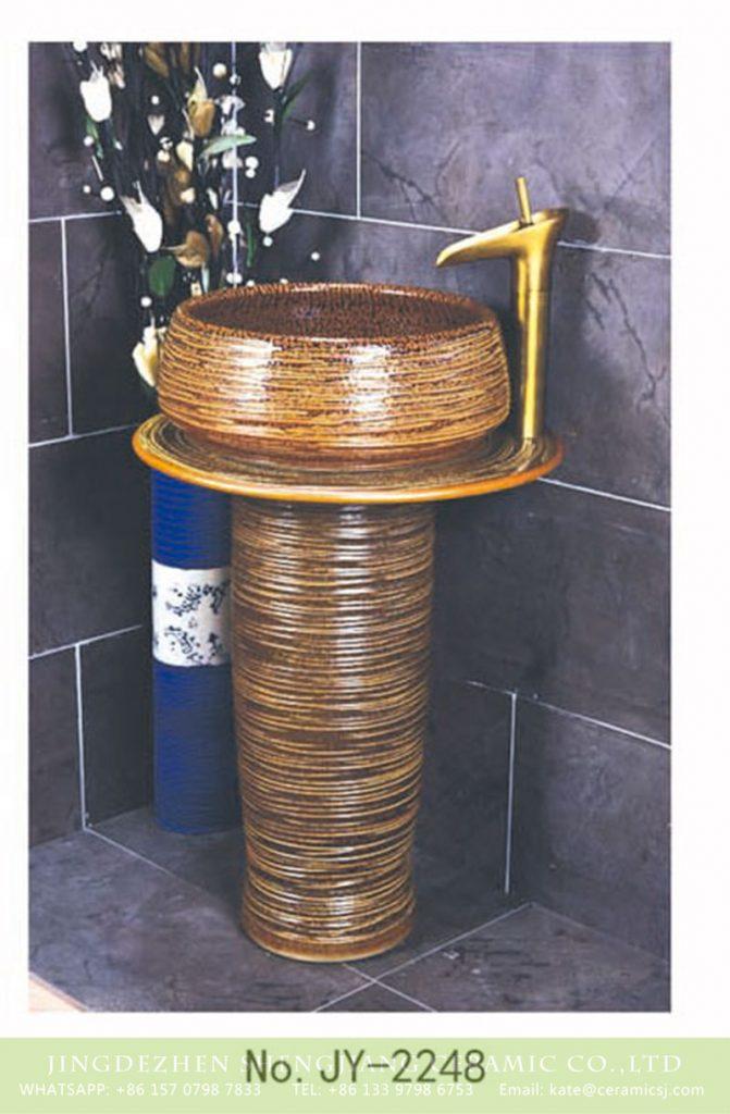 SJJY-2248-31柱盆_03-671x1024 SJJY-2248-31    Home decor smooth porcelain high quality pedestal basin - shengjiang  ceramic  factory   porcelain art hand basin wash sink