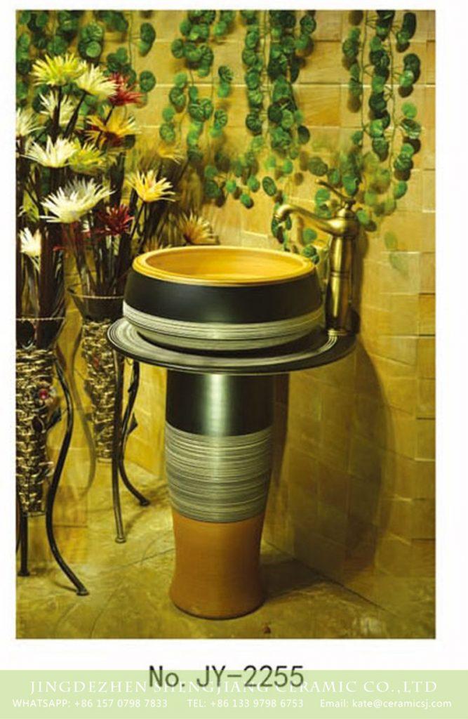 SJJY-2255-31柱盆_14-667x1024 SJJY-2255-31   Arts and crafts outdoor pedestal wash basin - shengjiang  ceramic  factory   porcelain art hand basin wash sink