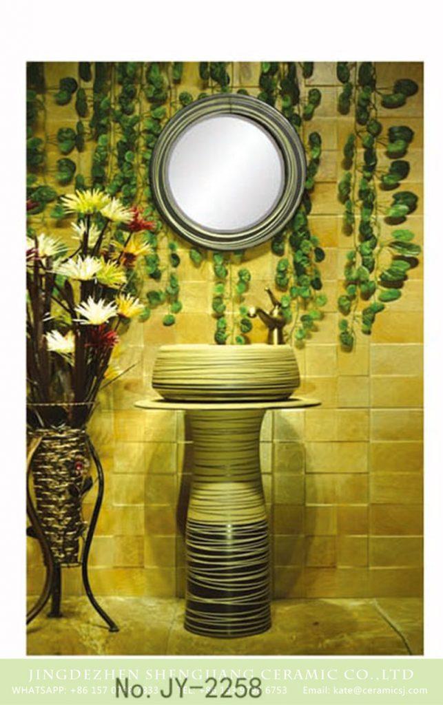 SJJY-2258-32柱盆_05-643x1024 SJJY-2258-32    Art design sink one piece unitary ceramic round pedestal basin - shengjiang  ceramic  factory   porcelain art hand basin wash sink