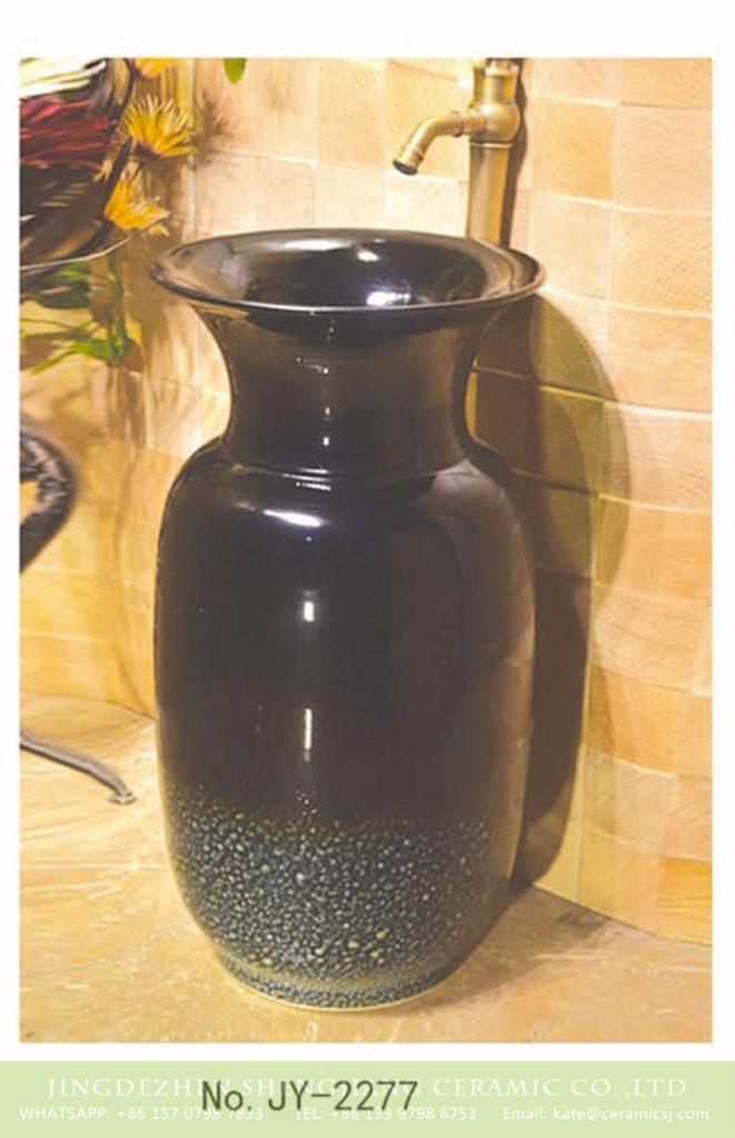 SJJY-2277-34柱盆_06-661x1024 SJJY-2277-34   Household high gloss black ceramic art pedestal basin - shengjiang  ceramic  factory   porcelain art hand basin wash sink
