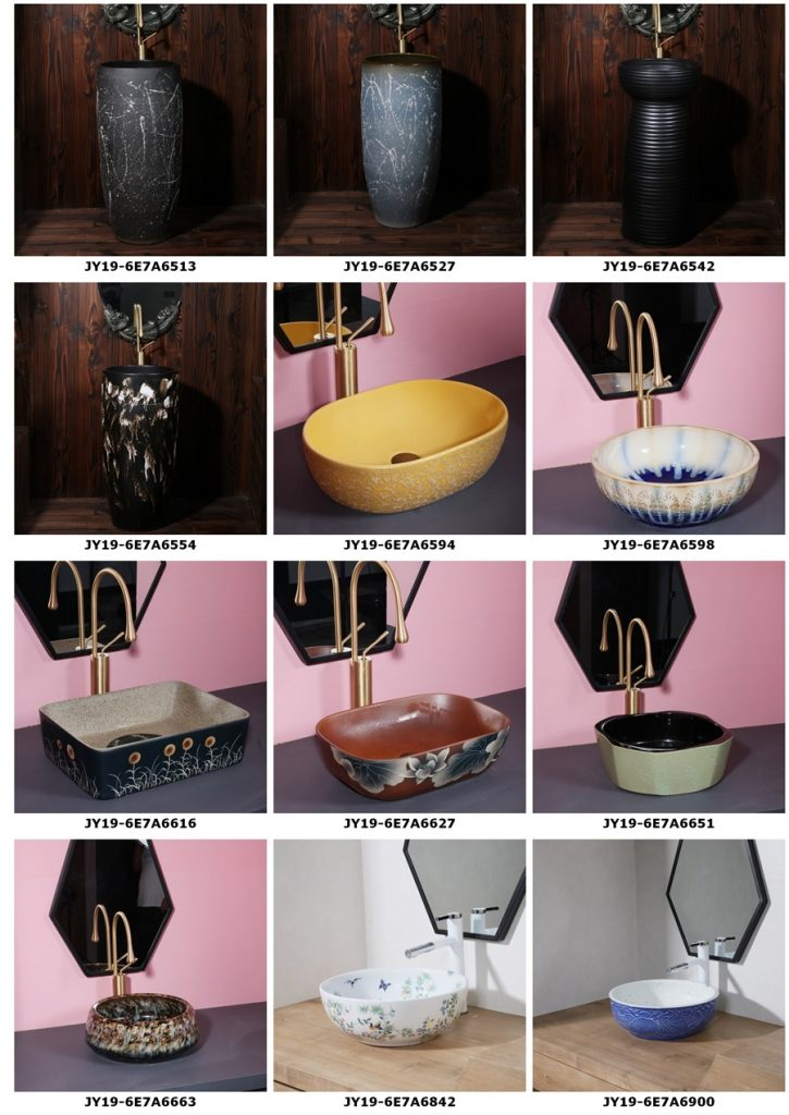 2019.VOL04-jingdezhen-shengjiang-ceramic-art-basin-washsink-brochure-jy_009-725x1024 2019 vol04 New arrivals Shengjiang exquisite arts and crafts porcelain wash basin - shengjiang  ceramic  factory   porcelain art hand basin wash sink