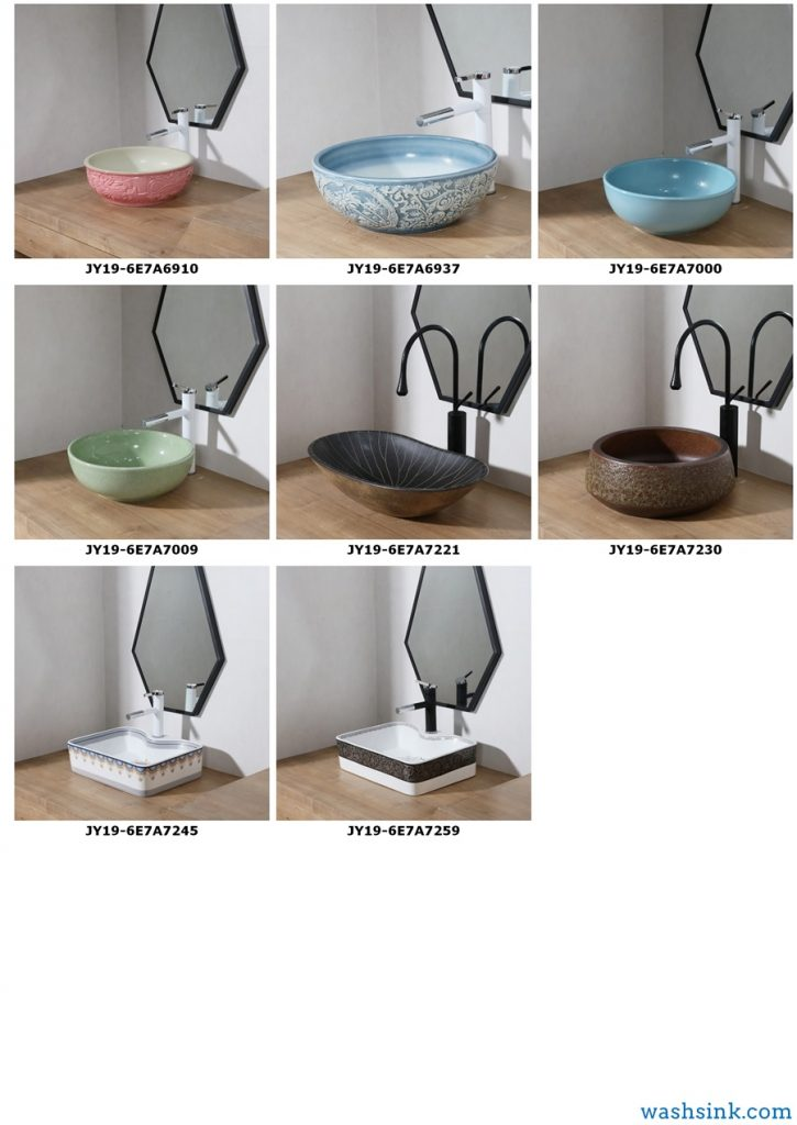 2019.VOL04-jingdezhen-shengjiang-ceramic-art-basin-washsink-brochure-jy_010-725x1024 2019 vol04 New arrivals Shengjiang exquisite arts and crafts porcelain wash basin - shengjiang  ceramic  factory   porcelain art hand basin wash sink