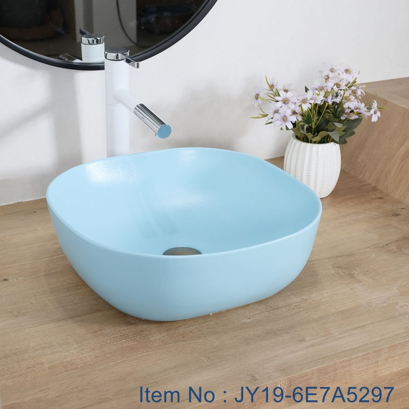 JY19-6E7A5297_看图王 JY19-6E7A5297 Blue Chinese factory direct art ceramic beautiful bathroom washing sink - shengjiang  ceramic  factory   porcelain art hand basin wash sink