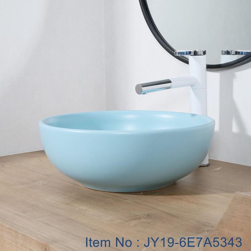 JY19-6E7A5343_看图王 JY19-6E7A5343 Chinese factory direct art ceramic beautiful bathroom washing sink - shengjiang  ceramic  factory   porcelain art hand basin wash sink