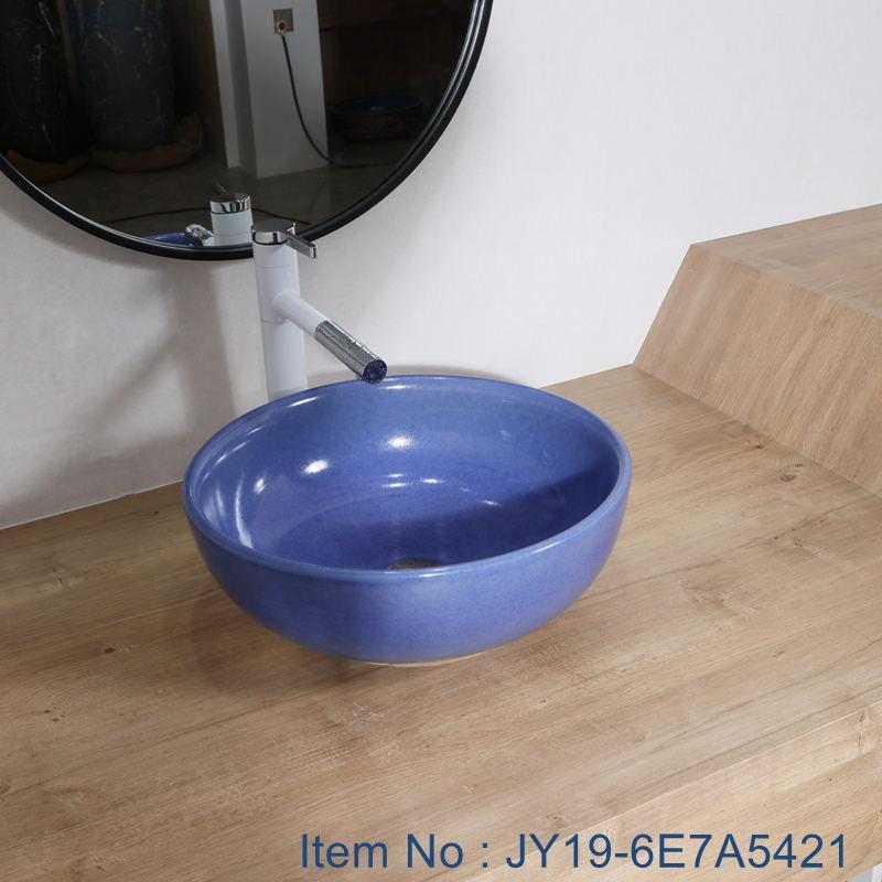 JY19-6E7A5421_看图王 JY19-6E7A5421 Chinese factory direct art ceramic beautiful bathroom washing sink - shengjiang  ceramic  factory   porcelain art hand basin wash sink
