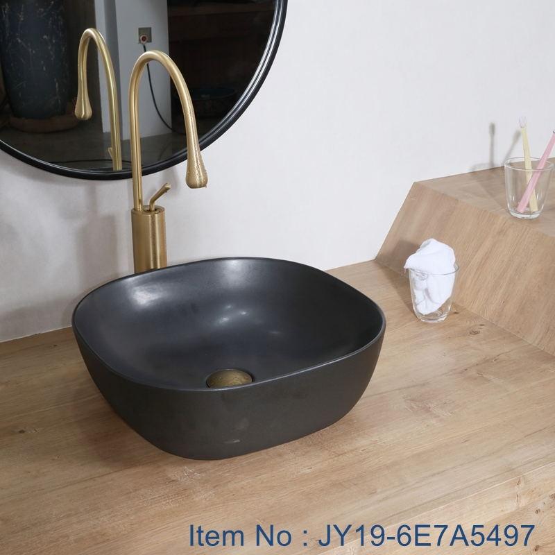 JY19-6E7A5497_看图王 JY19-6E7A5497 Wholesale artistic color glazed oval bathroom ceramic washbasin - shengjiang  ceramic  factory   porcelain art hand basin wash sink