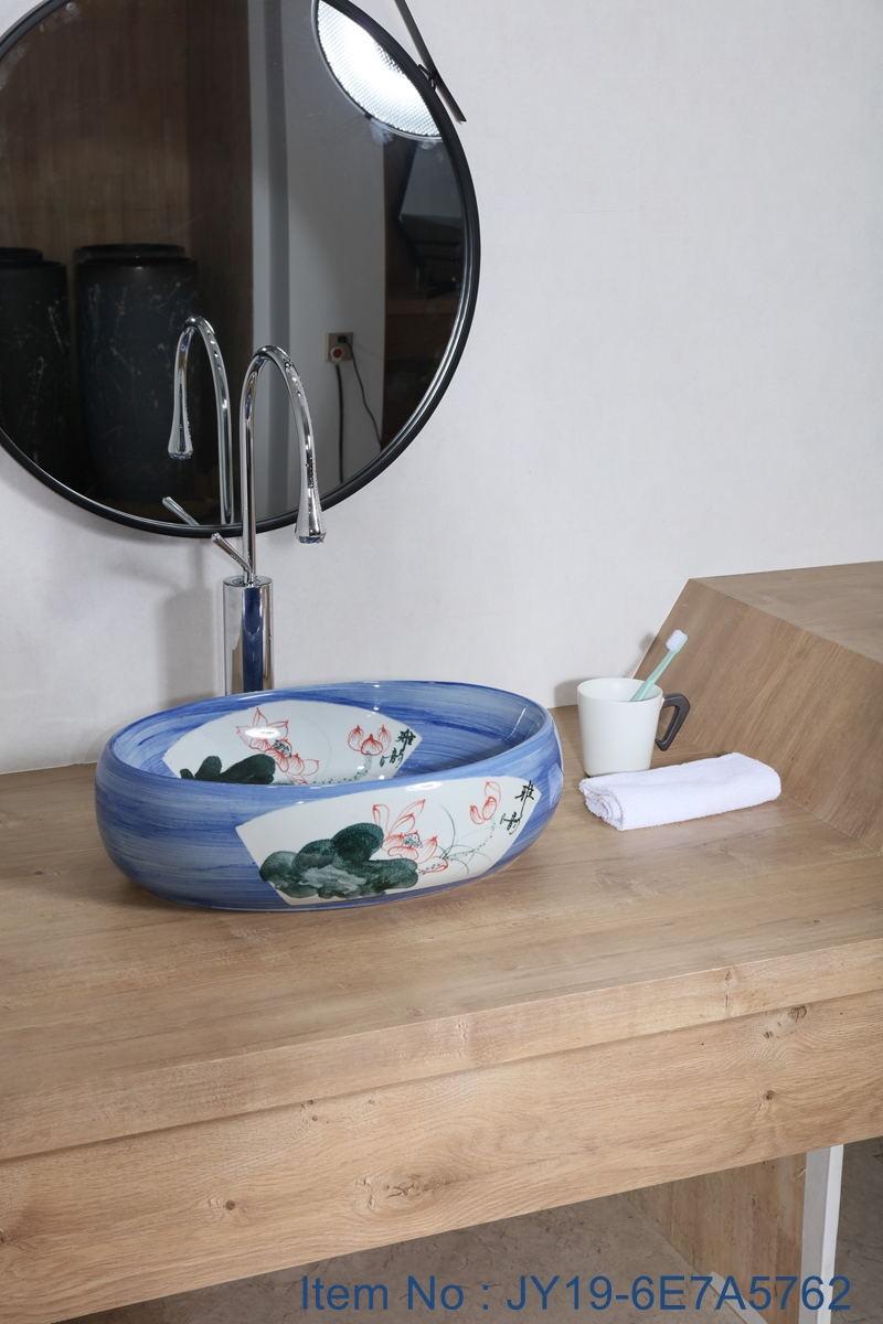 JY19-6E7A5762_看图王 JY19-6E7A5762  New produced Jingdezhen Jiangxi typical color art ceramic sink - shengjiang  ceramic  factory   porcelain art hand basin wash sink