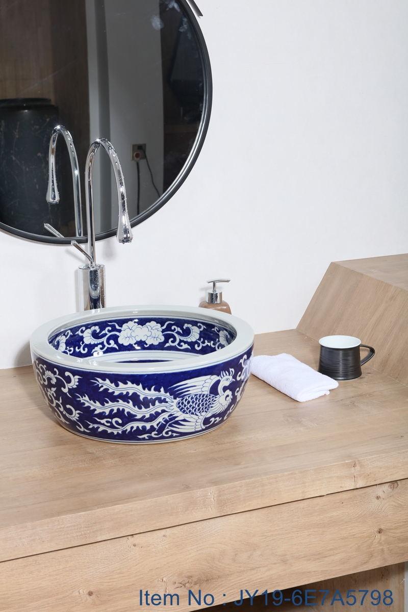JY19-6E7A5798_看图王 JY19-6E7A5798 New produced Jingdezhen Jiangxi typical colorful art ceramic sink - shengjiang  ceramic  factory   porcelain art hand basin wash sink