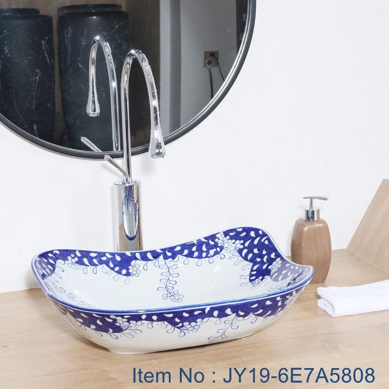 JY19-6E7A5808_看图王 JY19-6E7A5808 Wholesale artistic color glazed oval bathroom ceramic washbasin - shengjiang  ceramic  factory   porcelain art hand basin wash sink