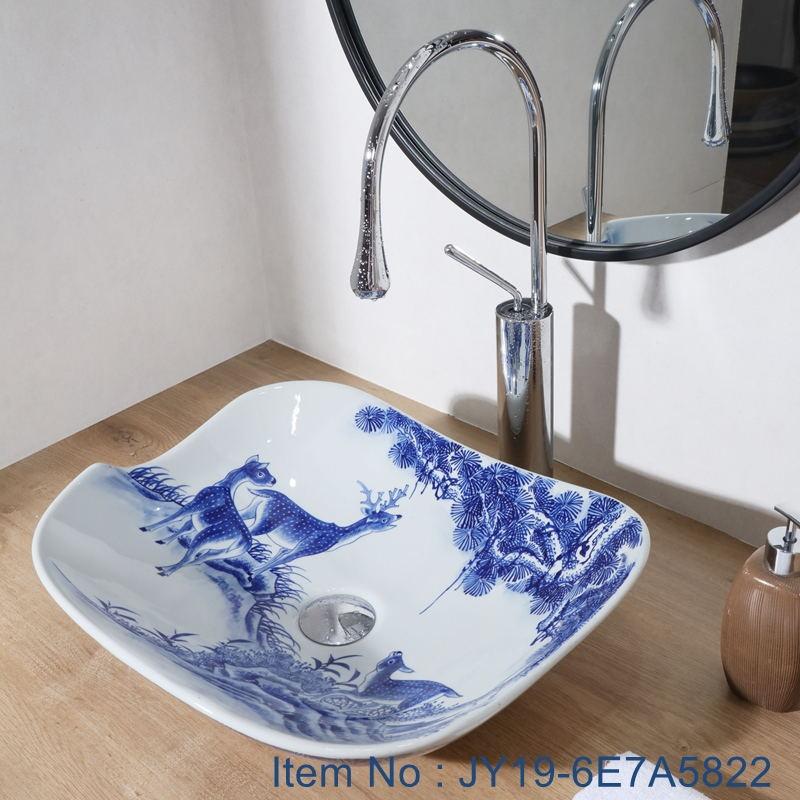 JY19-6E7A5822_看图王 JY19-6E7A5822 Wholesale artistic color glazed oval bathroom ceramic washbasin - shengjiang  ceramic  factory   porcelain art hand basin wash sink
