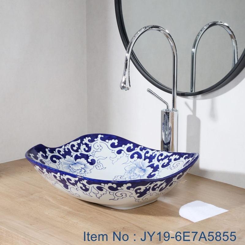 JY19-6E7A5855_看图王 JY19-6E7A5855 New produced Jingdezhen Jiangxi typical floral art ceramic sink - shengjiang  ceramic  factory   porcelain art hand basin wash sink