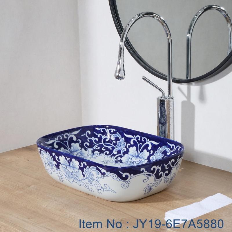 JY19-6E7A5880_看图王 JY19-6E7A5880 New produced Jingdezhen Jiangxi typical floral art ceramic sink - shengjiang  ceramic  factory   porcelain art hand basin wash sink