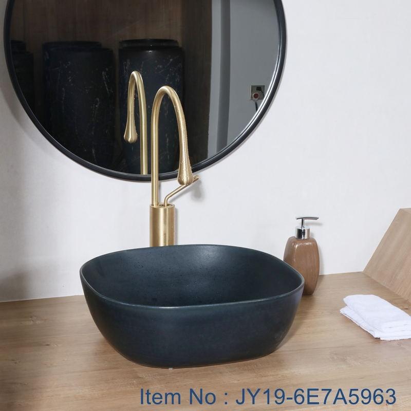 JY19-6E7A5963_看图王 JY19-6E7A5963 China wholesale color glazed bathroom porcelain table top vanity basin - shengjiang  ceramic  factory   porcelain art hand basin wash sink
