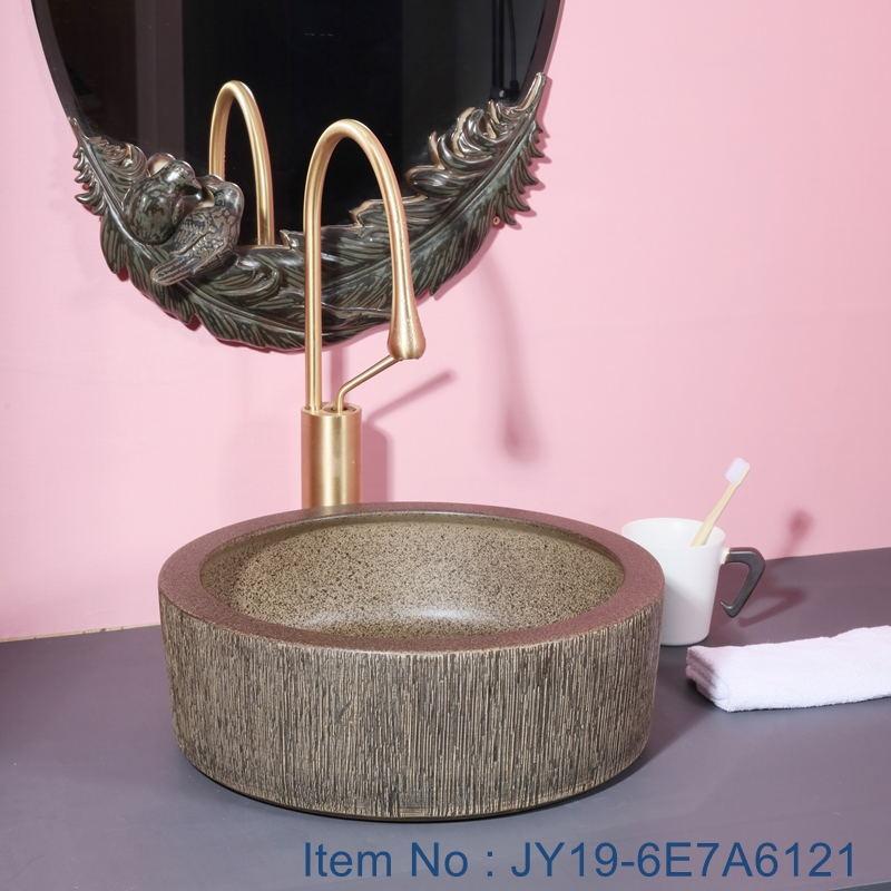 JY19-6E7A6121_看图王 JY19-6E7A6121 New produced Jingdezhen Jiangxi typical floral art ceramic sink - shengjiang  ceramic  factory   porcelain art hand basin wash sink