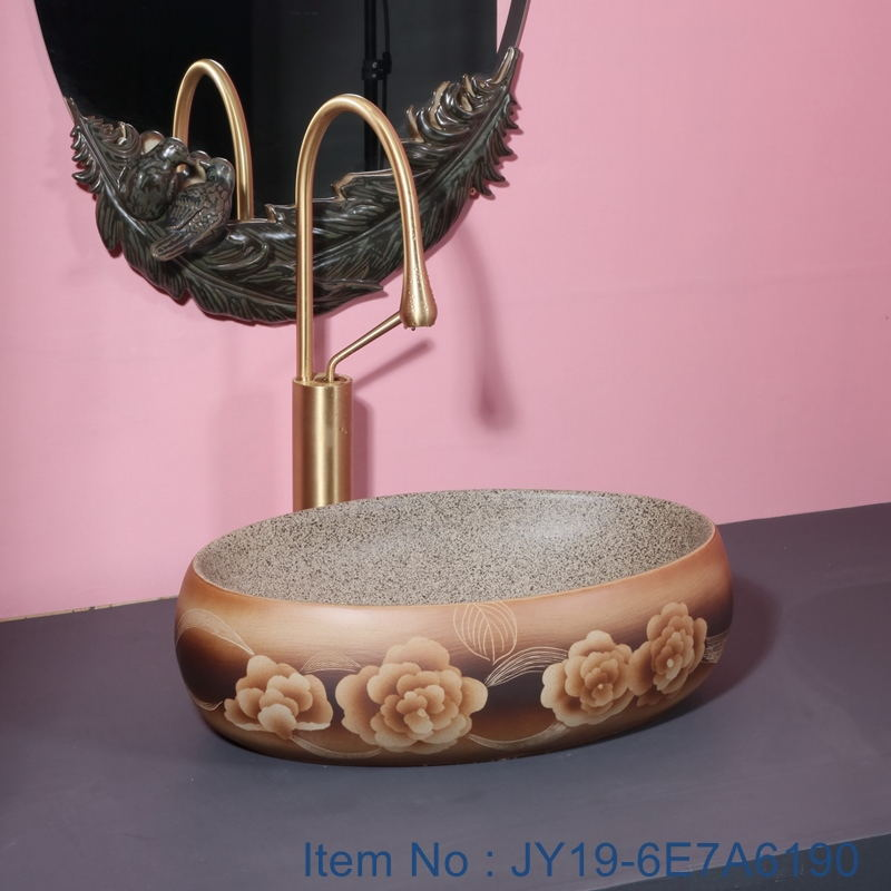 JY19-6E7A6190_看图王 JY19-6E7A6190 Wholesale artistic modern oval bathroom ceramic washbasin - shengjiang  ceramic  factory   porcelain art hand basin wash sink