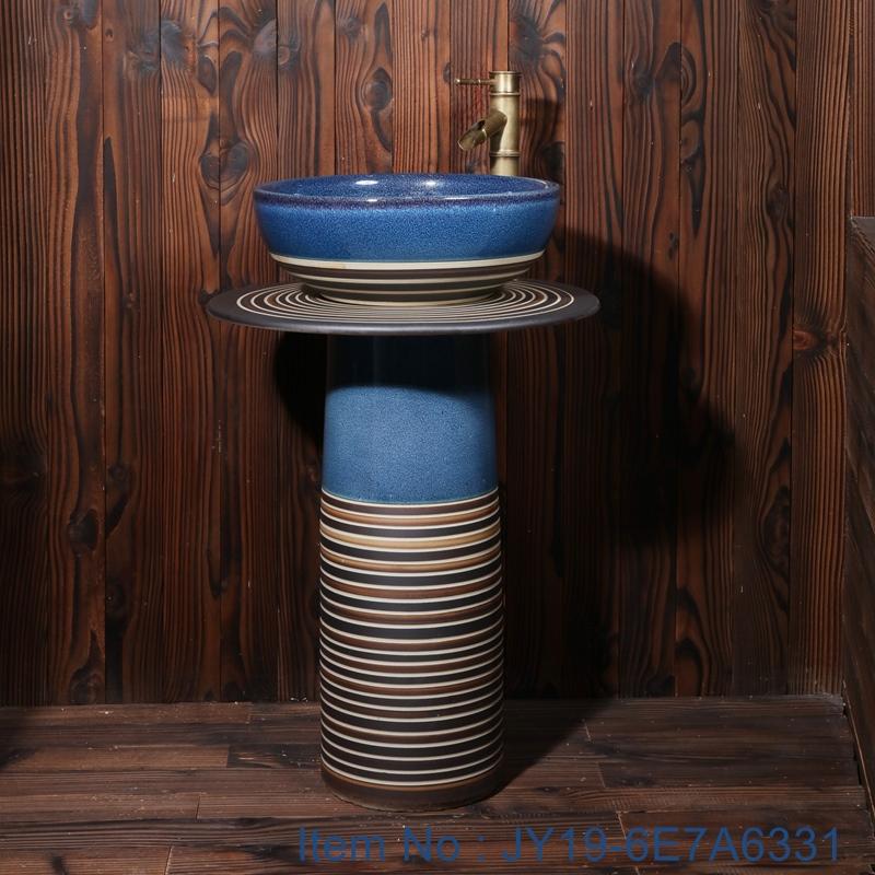 JY19-6E7A6331 JY19-6E7A6331 China wholesale high quality color glazed bathroom porcelain table top vanity basin - shengjiang  ceramic  factory   porcelain art hand basin wash sink