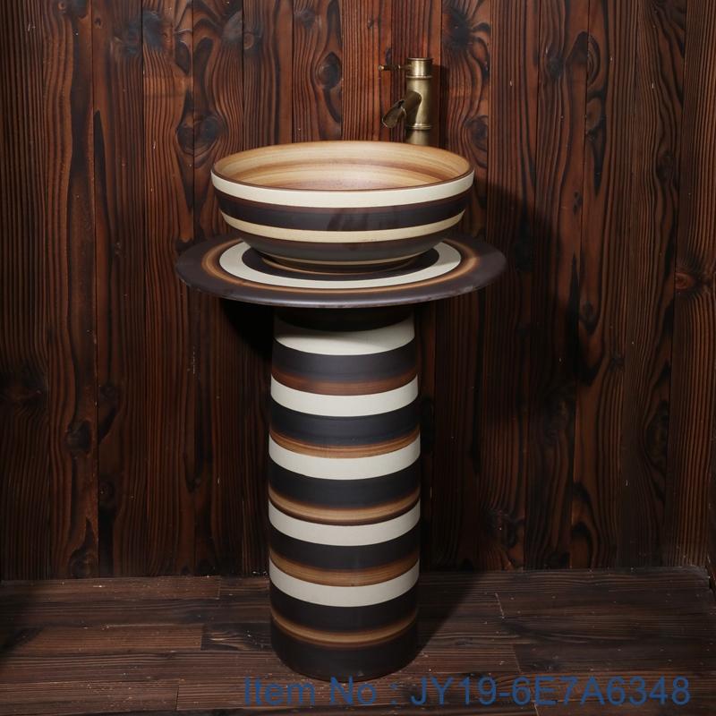 JY19-6E7A6348 JY19-6E7A6348 Wholesale artistic color glazed oval bathroom ceramic washbasin - shengjiang  ceramic  factory   porcelain art hand basin wash sink