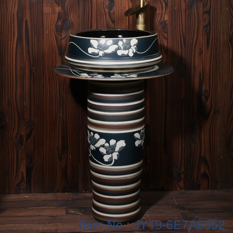 JY19-6E7A6352 JY19-6E7A6352 China ceramic capital hot sell high quality sink - shengjiang  ceramic  factory   porcelain art hand basin wash sink