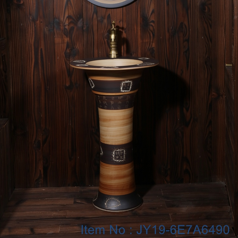 JY19-6E7A6490 JY19-6E7A6490 China traditional high quality bathroom ceramic made in Jingdezhen Shengjiang ceramic factory - shengjiang  ceramic  factory   porcelain art hand basin wash sink