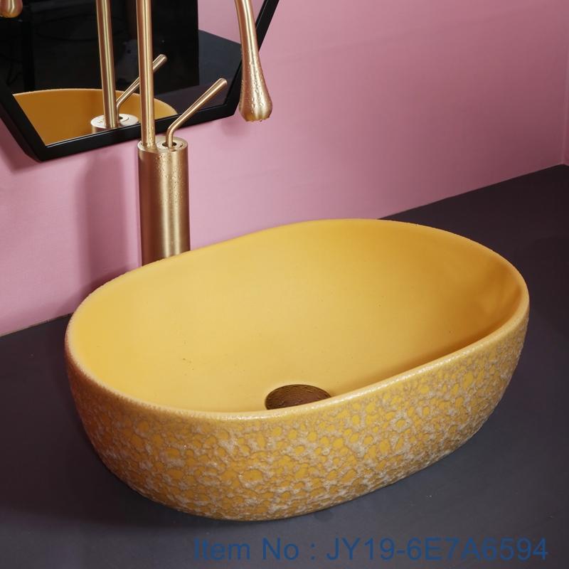 JY19-6E7A6594 JY19-6E7A6594 Chinese factory direct art ceramic beautiful bathroom washing sink - shengjiang  ceramic  factory   porcelain art hand basin wash sink