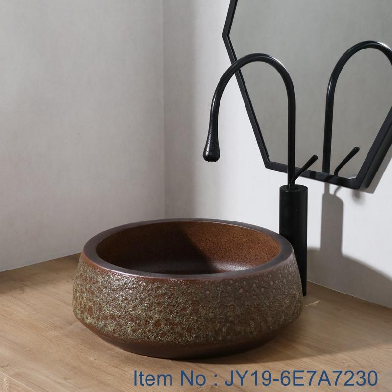 JY19-6E7A7230 JY19-6E7A7230 Chinese factory direct art ceramic beautiful bathroom washing sink - shengjiang  ceramic  factory   porcelain art hand basin wash sink