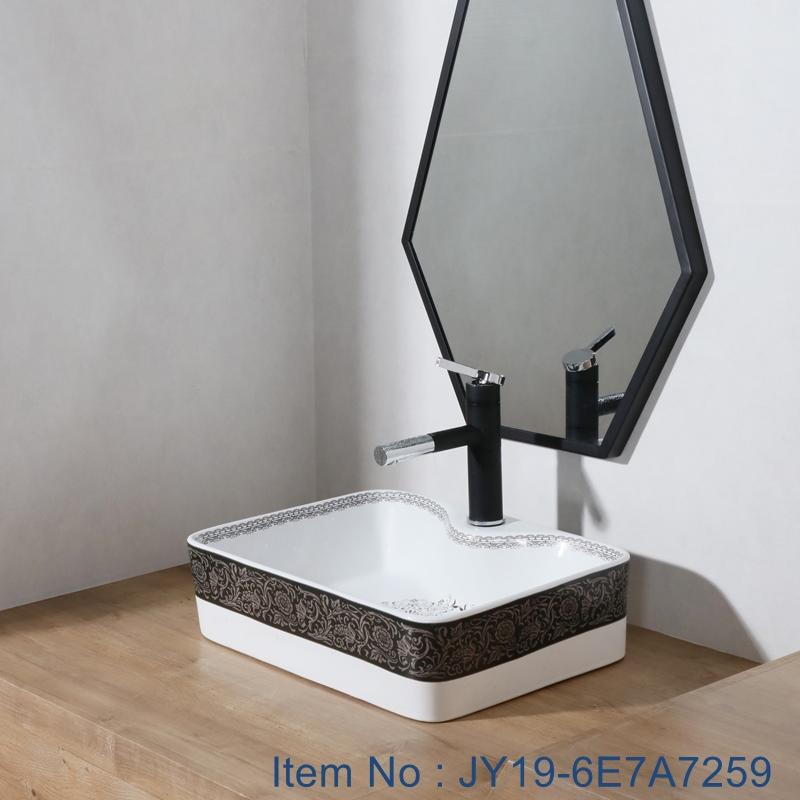 JY19-6E7A7259 JY19-6E7A7259 China wholesale color glazed bathroom porcelain table top vanity basin made inporcelain city Jingdezhen - shengjiang  ceramic  factory   porcelain art hand basin wash sink