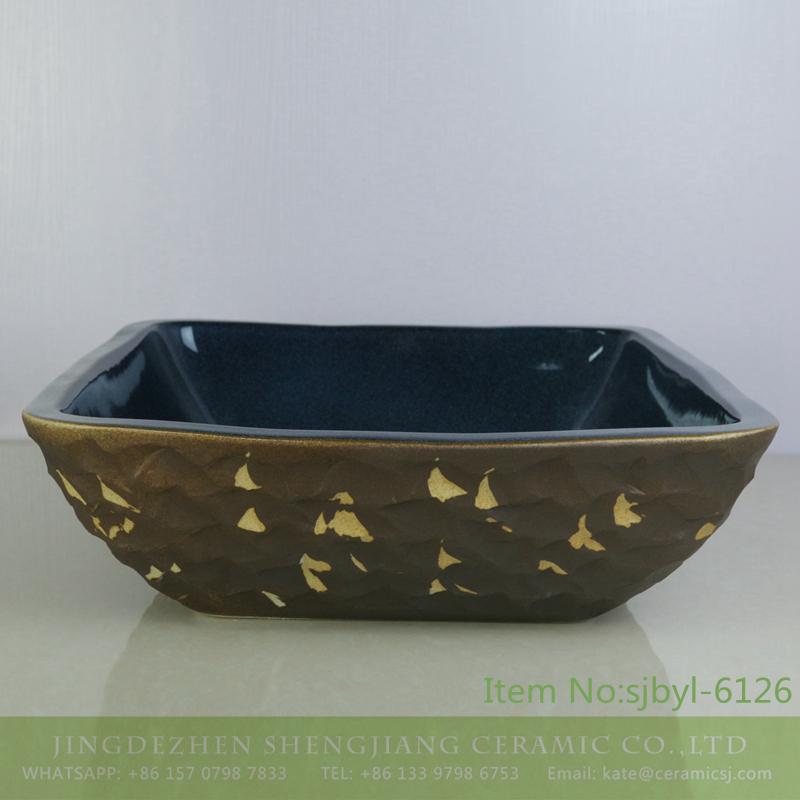 sjbyl-6126-(正)黄雁 sjbyl-6126 Shengjiang Yellow wild goose pattern ceramic basin wash basin daily household hotel toilet high quality - shengjiang  ceramic  factory   porcelain art hand basin wash sink