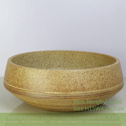 sjbyl-6216 Dark green lavatory petals overlap design bathroom wash basin Chinese ceramic jingdezhen porcelain