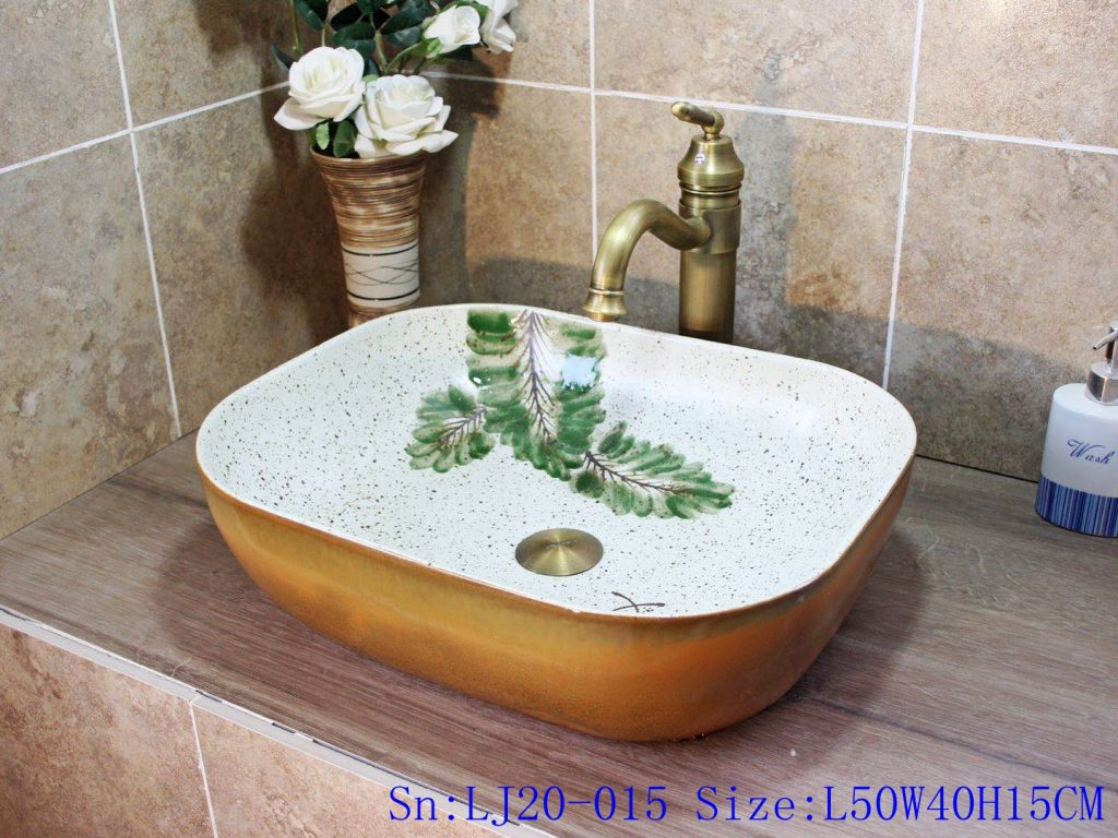 LJ20-015-1024x768 LJ20-015 Simple branches decorated wax gourd shaped ceramic washbasin - shengjiang  ceramic  factory   porcelain art hand basin wash sink