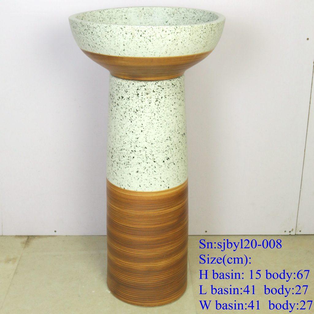 sjbyl20-008-套盆-白点线圈2-1024x1024 sjby120-008 Jingdezhen handmade white point coil washbasin - shengjiang  ceramic  factory   porcelain art hand basin wash sink
