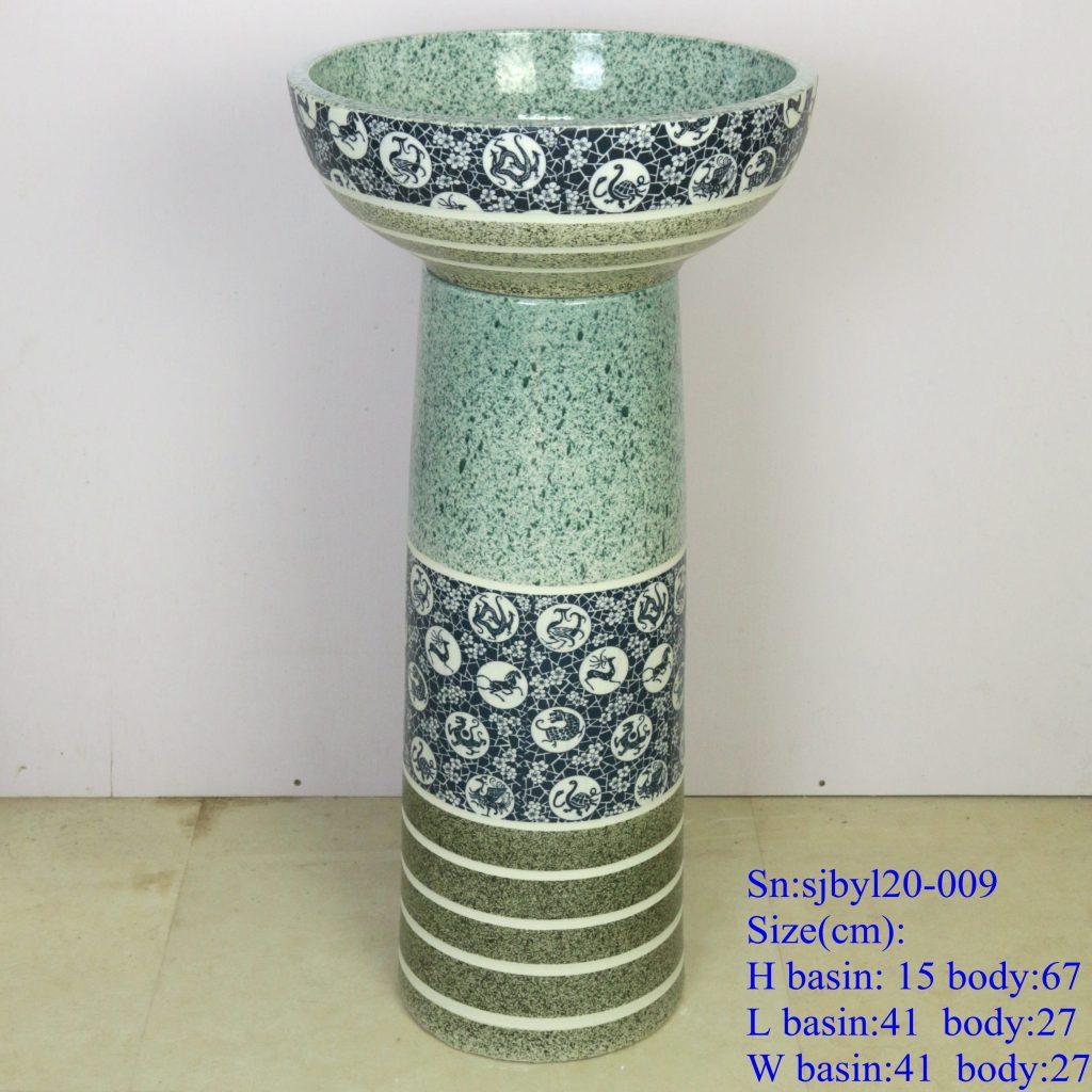 sjbyl20-009-套盆-12生肖斑马纹-1024x1024 sjby120-009Jingdezhen 12 zodiac zebra pattern washbasin - shengjiang  ceramic  factory   porcelain art hand basin wash sink
