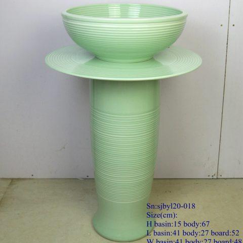 sjby120-018 Jingdezhen jade coil pattern washbasin