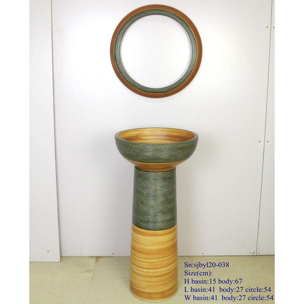 sjbyl20-038-套盆-古色岩刻细线-1024x1024 sjby120-038 Jingdezhen hand-carved ancient color rock fine line pattern wash basin - shengjiang  ceramic  factory   porcelain art hand basin wash sink