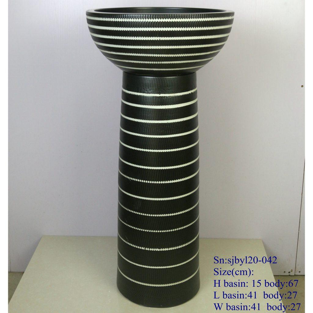 sjbyl20-042-套盆-弹簧2-1024x1024 sjby120-042 Jingdezhen handwork spring design washbasin - shengjiang  ceramic  factory   porcelain art hand basin wash sink