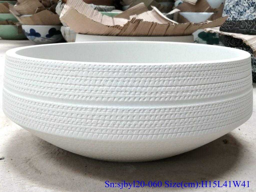 sjbyl20-060-无光扯箍2-1024x771 sjby120-060 Shengjiang hand painted matte hoop wash basin - shengjiang  ceramic  factory   porcelain art hand basin wash sink