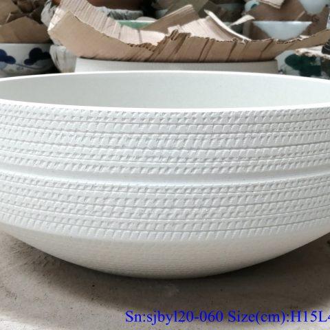 sjby120-060 Shengjiang hand painted matte hoop wash basin