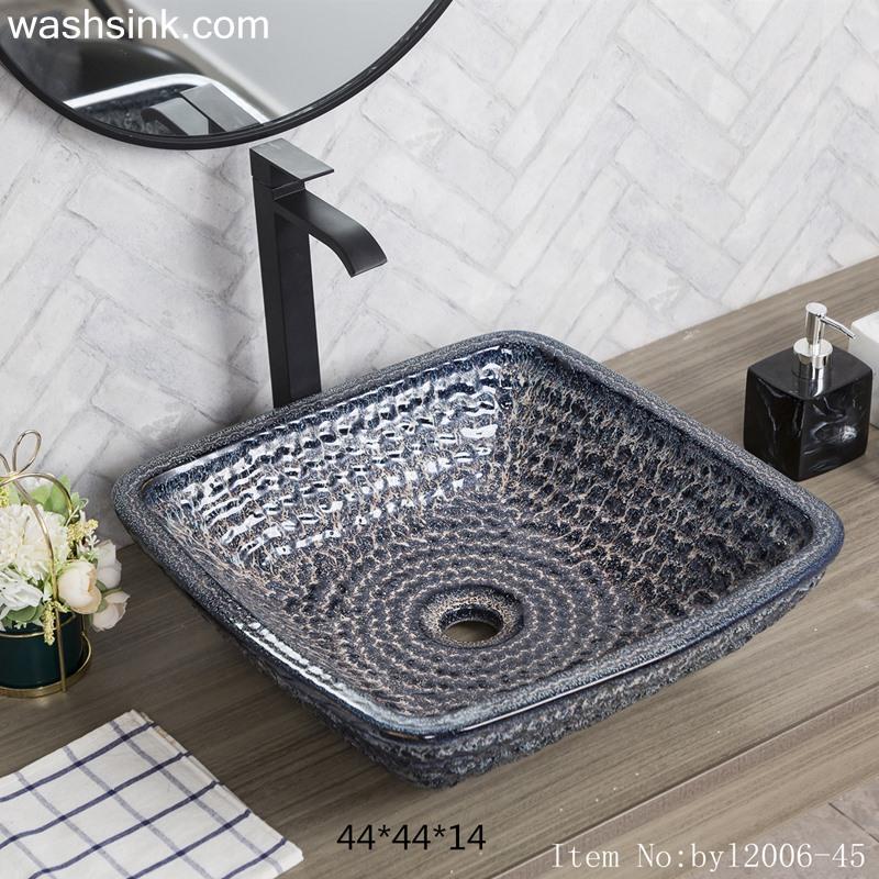 byl2006-45-1 byl2006-45 Jingdezhen serpentine square ceramic washbasin - shengjiang  ceramic  factory   porcelain art hand basin wash sink