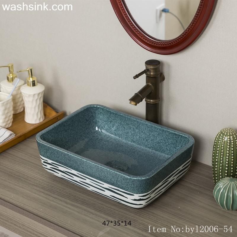 byl2006-54-1 byl2006-54 Jingdezhen handmade creative pattern ceramic washbasin - shengjiang  ceramic  factory   porcelain art hand basin wash sink