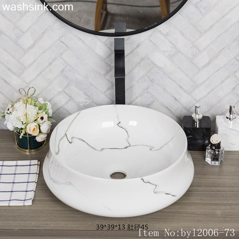 byl2006-73-1 byl2006-73 Jingdezhen glazed whiteceramic washbasin with cracks - shengjiang  ceramic  factory   porcelain art hand basin wash sink